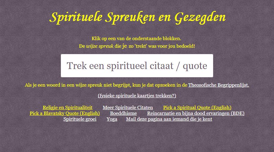 Spirituele spreuken en ander nieuws